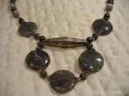 Naszyjnik kwarc rutylowy perla srebro 925